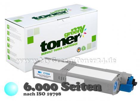 Tonerkartusche, cyan, kompatibel mit OKI ® 46490607